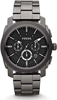 Fossil Machine for Men - Analog Stainless Steel Band Watch - FS4662