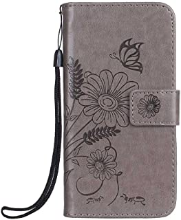 CUSKING Galaxy S7 Case, PU Leather Wallet Case Premium Magnetic Stand Bumper Case with Card Holder and Hand Strap for Samsung Galaxy S7 - Grey
