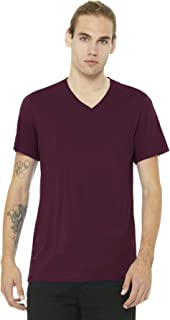 Womens 4.2 oz. V-Neck Jersey T-Shirt (3005) -MAROON -2XL