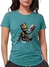 CafePress GOTG Groot Cassette Womens Tri Blend Tri-Blend Tee
