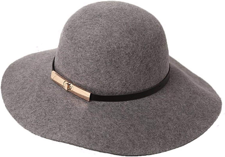CYSJW-Eine Kuppel Mit Groen Dach Eine Graue Mütze Eine Frau Eine Breite Eave EIN Sonnenschutz-Becken Hut.