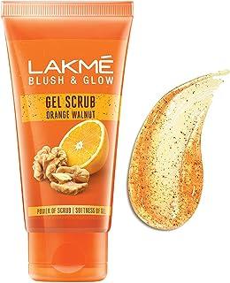Lakme Blush & Glow Orange Walnut Scrub, Gentle On Skin, Deep Cleansing Gel Scrub 100 g