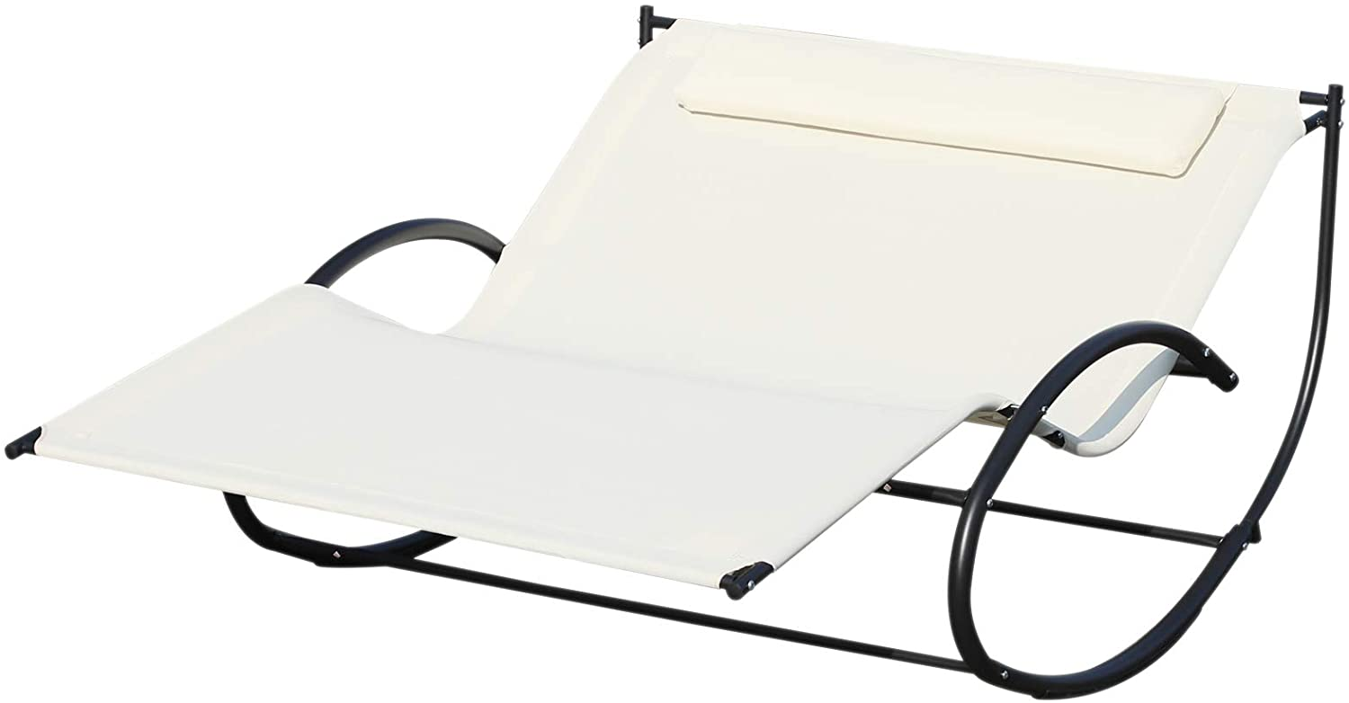 Outsunny Double Chaise Lounger