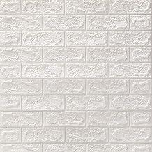 DTC (6 stuks) 3D zelfklevend behang, waterbestendig, baksteen, steenlook, wandpanelen, muurstickers, anti-botsing, meubelf...