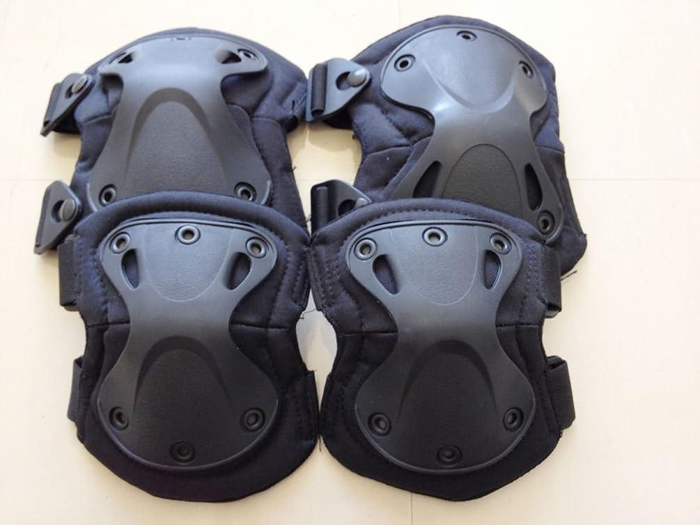 生む日吹きさらしXTAK型SWAT肘膝プロテクターエルボーパッドニーパッド黒エルボーパットニーパット