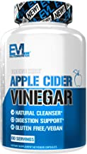 Evlution Nutrition Apple Cider Vinegar CleanseMode, 500mg of Pure Apple Cider Vinegar to Help Digestion and Cleansing, 60 ...