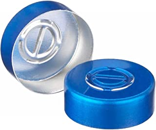 Wheaton Dwk Life Sciences 224183-05 Unlined Aluminum Seals with Center Disc Tear-Out, 20 mm (Pack of 100), Milliliters, Degree C, Aluminum, Blue (Pack of 100)