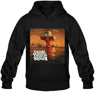 Soulya Men's Gorillaz Plastic Beach Spring Hoodies Sweatshirt Size US White