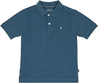 Boys' Heathered Stretch Short Sleeve Polo