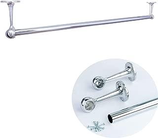 MKGT - Juego de Barras para Colgar en Armario, 25 mm, Metal Cromado Pulido, Organizador de Armario, Expositor de Venta al por Menor, 1.2M (1200mm)