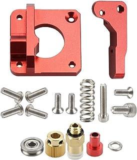 إكسسوارات الطابعة MK8 MK9 Red Extruder لطابعة ثلاثية الأبعاد كتلة الألومنيوم جميع المعادن B/o/w/d/e/n Exruder Kit أيمن 1.7...