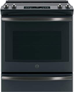 GE JS760FLDS Black Slate Series 30 Inch Slide-in Electric Range in Black Slate