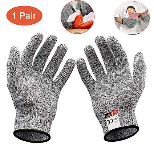 Schnittfeste Handschuhe,schnittfeste Handschuhe Kinder,Schnittschutzhandschuh Level 5,für Sicherheit Küche und Outdoor Cut Handschuhe(XS)