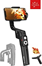 MOZA Mini-S Smartphone Gimbal, One-Button Zoom Object Tracking Foldable 3 Axis Gimbal Stabilizer for Smartphone iPhone Xs/Max/Xr/X/8/7/6 Plus Samsung Note 8/S8