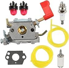 Savior 545006017 Carburetor with Fuel Line Filter Primer Bulb for Zama C1U-W32 Carb Trimmer Poulan PP136E PPB100E PPB150E Trimmer Pruner
