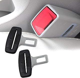 Extraela 2ps Cinturones de seguridad De Seguridad De Coche Universal De Fibra De Carbon Clip Abrazadera Enganche Conector de Cinturon Seguridad para Sillas Asientos de Auto Coche Vehículo