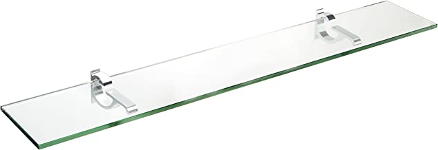 Spancraft Glass Monarch Glass Shelf, Chrome, 12 x 30