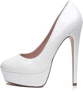 JRYⓇ Chaussures à Talons Hauts pour Femmes - Chaussures de soirée à Bout Pointu Formelles pour Femmes Chaussures habillées...