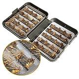 40 piezas/lote trucha ninfa pesca con mosca TOPIND cebo de pesca de pesca con mosca 6 colores mosca...