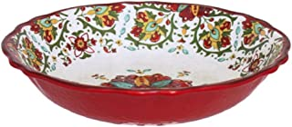 Le Cadeaux Allegra Salad Bowl, 13.75-Inches, Red