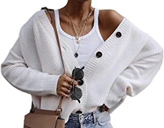 Women's Classic V Neck Long Sleeve Button Down Sweater Knit Cardigan