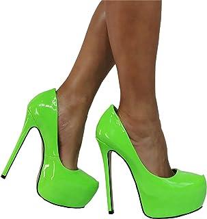 Hoge Hakken 16 Cm Fluorescerende Groene Stiletto Platform Sexy Damesschoenen,Green-37