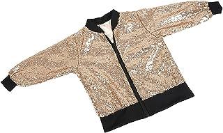 MagiDeal Babies Kids Girls Coat Sequin Shining Long Sleeve Outwear Jacket Coat