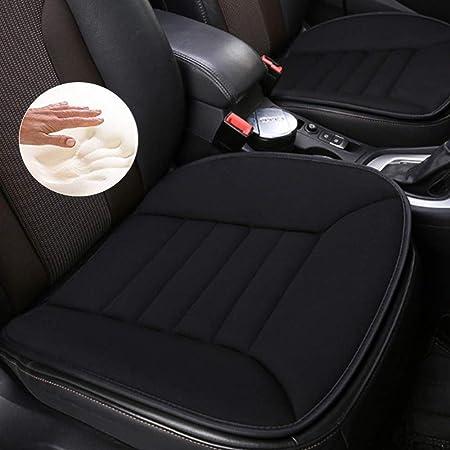 Luollove Autositzbezüge Pu Leder Bambus Kohle Atmungsaktiv Kompatibel Für 90 Modelle Vordersitz 2stücke Grau 20 5 X 20 1 In Auto