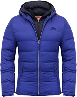 Mens Tokyo Laundry Habeck Hooded Padded Puffer Jacket Double Layered Winter Coat