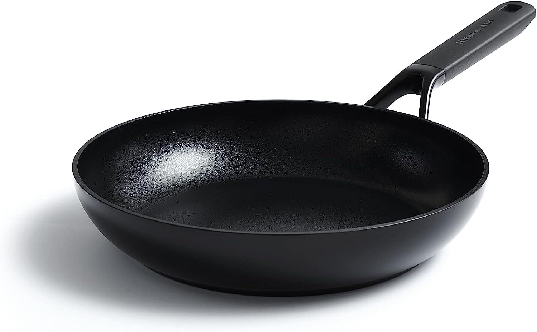 KitchenAid Sartén Antiadherente de Aluminio, Apta para Todo Tipo de Cocinas, Inducción, Horno y Lavavajillas, 20 cm, Negra