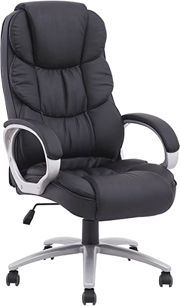 BestOffice Ergonomic PU Leather High Back Office Chair Xnrlfz 4 Pack Black