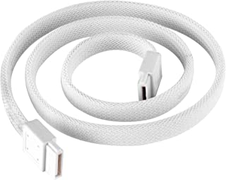 Silverstone SATA III SSD/HDD Cable with Locking Mechanism in White CP07W-USA