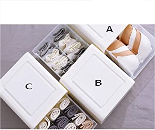 MU Ménage Portable Boîte De Rangement en Bois Massif, Type De Tiroir sous-vêtements en Plastique Soutien-Gorge Boîte sous-...