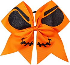 "Double Joyous Polyester Ribbon Hair Bows 7"" Halloween Ghost Hair Clip For Girl Hair Accessories"