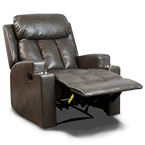 Awe Inspiring Grey Leather Chair Recliners Amazon Com Unemploymentrelief Wooden Chair Designs For Living Room Unemploymentrelieforg
