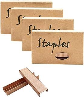 Rose Gold 26/6 Standard Staple Set 12mm Width 950/Box 4 Boxes/Pack 3800 Count Staples for Office School Home Stapler Stapl...