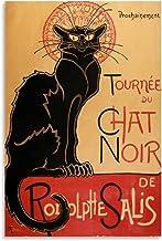 AIPINGLLI De zwarte kat liefde poster canvas kunst poster en kunst foto afdrukken moderne familie slaapkamer decor posters...