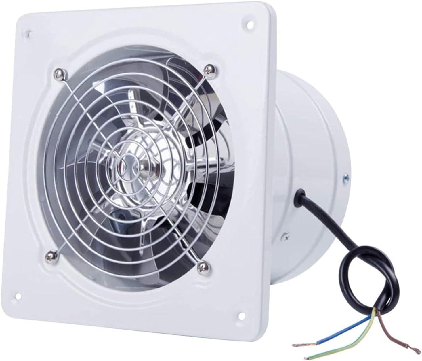YFGQBCP Ventilador de Escape del Ventilador de 8 Pulgadas, Ventilador de Escape de Alta Velocidad de Flujo axial, Ventilador de la Cocina Blanca, Ventilador, lámpara de Pared, Potente Escape