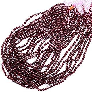 "Zoya Gems & Jewellery Natural 1 Strand Red Garnet Faceted 4mm Round Beads Gemstone 18"" Strand Necklace"
