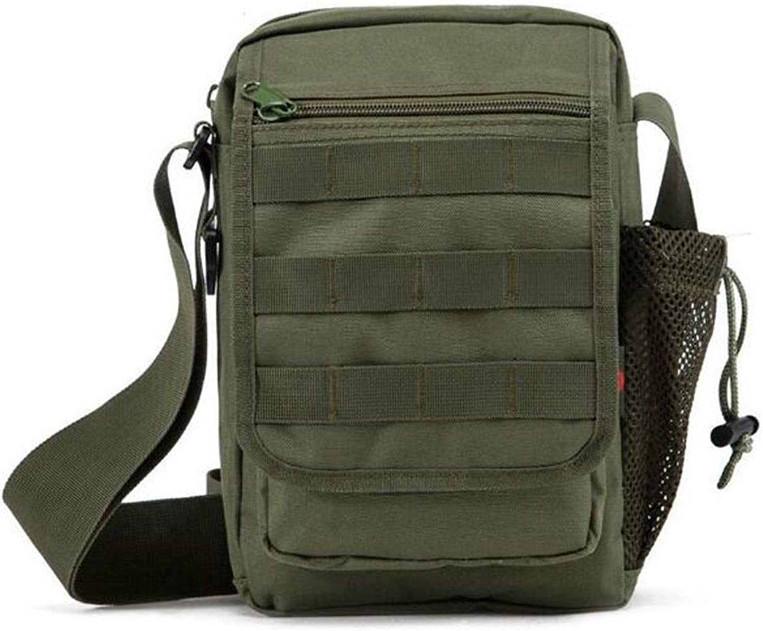 Backpack Outdoor Shoulder Bag MultiFunctional Casual Couple Bag for Men and Women Small Bag Neutral Messenger Bag, Green