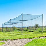 Fortress Ultimate Baseball Batting Cage [20', 35', 55', 70'] | #42 Grade Net with Steel Poles | Baseball & Softball Cage & Netting | Softball Batting Cage (35' Batting Cage Package)