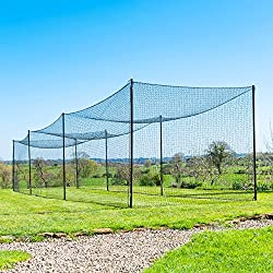 top 10 batting cage baseballs Fortress Ultimate Baseball Batting Cage [20', 35', 55', 70'] | Net with steel support No.42 |…