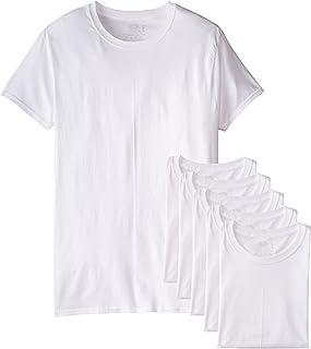 Fruit of the Loom メンズ 5パック ホワイト クルーネック アンダーシャツ コットン Tシャツ、S