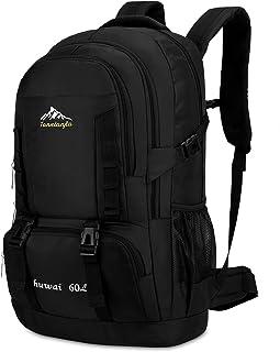 CX&LL Sac à dos de randonnée, 60 l, pour homme, femme, sac à dos de randonnée, sac à dos de randonnée, extérieur, multifon...