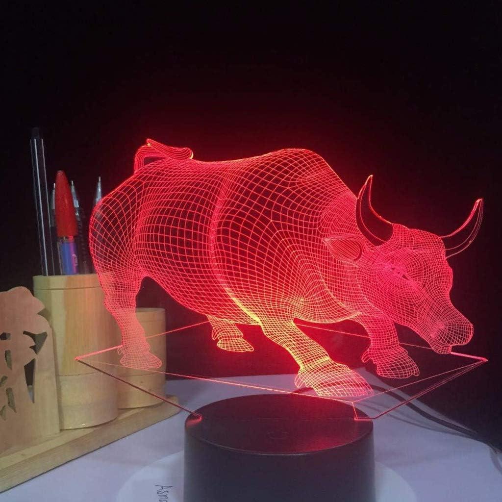 SPNEC Creative 3D overseas supreme Night Gradient Light Colorful Led