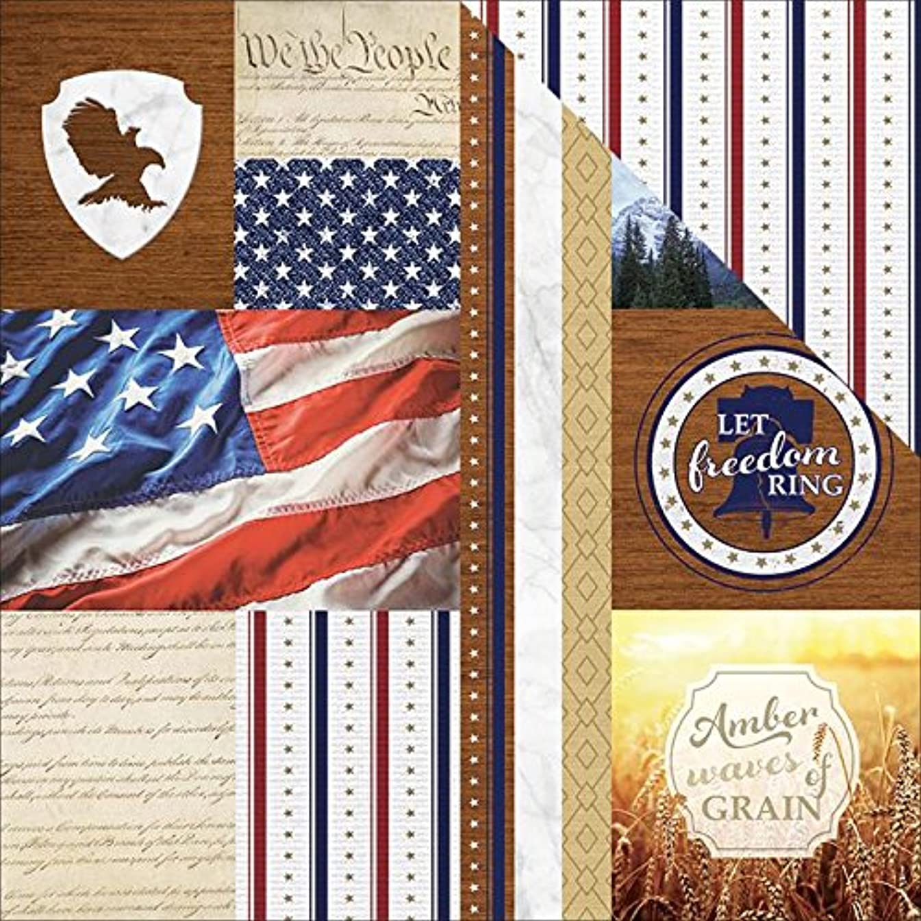 Paper House Productions Let Freedom Ring Tags Paper Craft Product (15 Pack), Piece