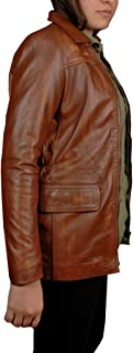ABz Leathers Hunger Games Jennifer Lawrence Katniss Everdeen Real Leather Women Jacket In Brown (S, Brown)