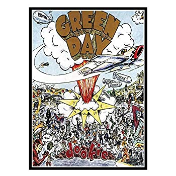 YUJINGLL Art Green Day Dookie Album Cover Painting Poster Prints Canvas Wall Picture for Home Room Decor -20X28InchNoFrame1Pcs
