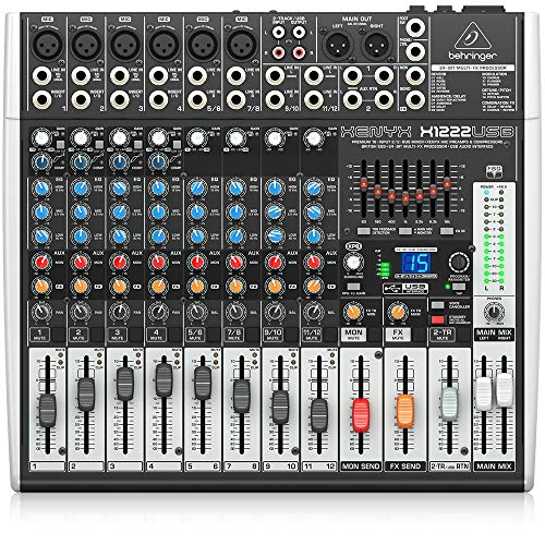 Behringer Xenyx X1222USB Premium 16-Input 2/2-Bus Mixer with USB/Audio Interface. Buy it now for 274.99