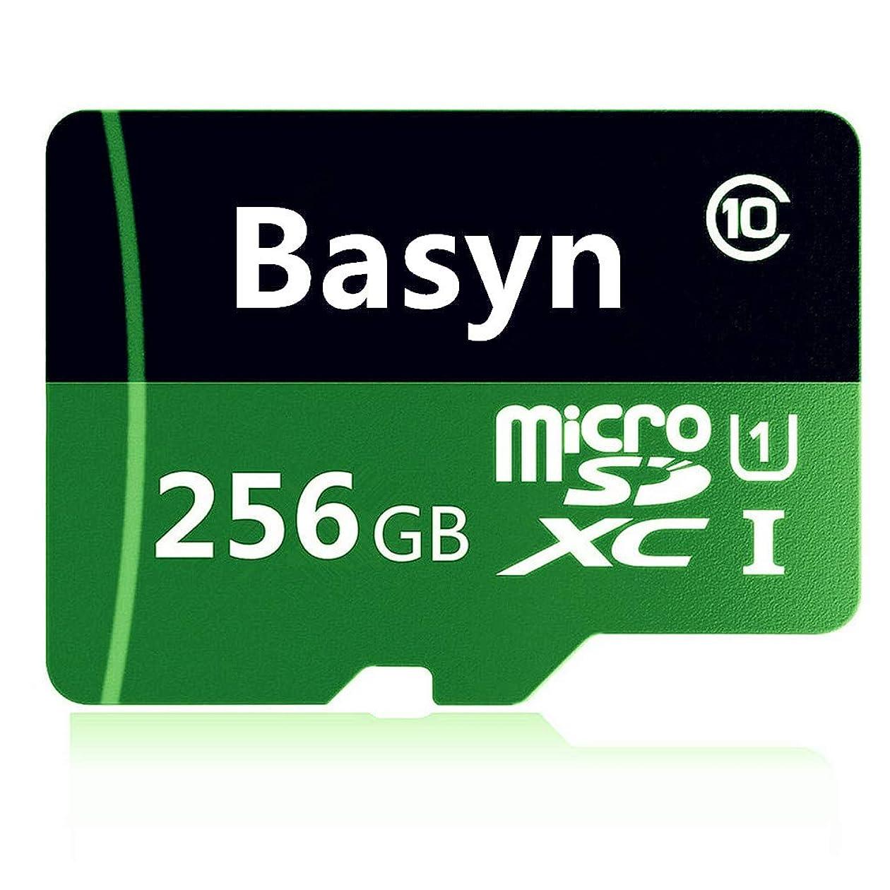 分注する貯水池連続したBasyn microSDカード microSDXCカード 256 GBマイクロSD SDXCメモリーカード 超高速Class10 + SDカードアダプ(JS99-GH) (256GB)
